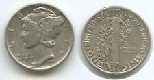 H0206 - USA One Mercury Dime 1941 KM#140 Silber United States