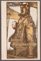 WW1 GERMAN PILOT LITHO 1917 PLAIN  GOGGLES JACKET TRANSPORTATION POSTCARD