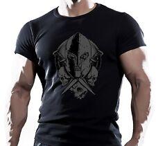 Spartan cráneo MMA lucha entrenamiento motivación para hombre Camiseta Ufc Muay Thai