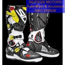 Sidi Crossfire 2 SRS Fuoristrada MX Stivali Moto Uomo Bianco 44
