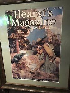 Maxfield Parrish The Frog Prince Hearst's Magazine Print Framed