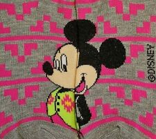 Disney Women Size 4-10 Gray Mickey Mouse Casual Funny Sock No-Show Low-Cut Ankle