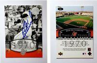 Merv Rettenmund Signed 2004 UD Legends Timeless Teams #64 Card Baltimore Orioles