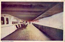 "Promenade Deck On Board United Fruit Company'S ""Metapan"" 1916"