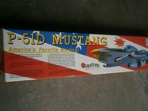 Vintage great planes P-51D Mustang  R/C 60 SIZE Balsa Wood Kit