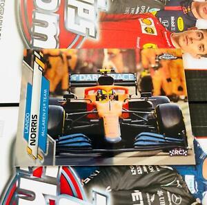 2020 TOPPS CHROME F1 FORMULA 1 #27 LANDO NORRIS RC McLAREN