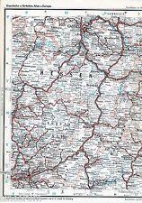 Kassel Hanau Fulda 1901 orig. Eisenbahn-Teil-Atlaskarte Eschwege Marburg Korbach