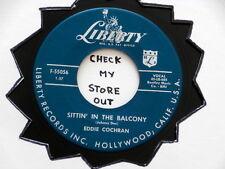 EDDIE COCHRAN~ SITTIN IN THE BALCONY~ VG++~ DARK LONELY STREET~ ~ ROCKABILLY 45