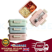 3 Compartments Lunch Box Food Container Set Bento Storage Boxes For Kids Adults