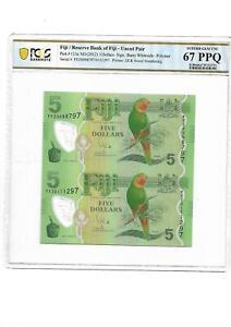 Fiji/Reserve Bank of Fiji Pick#115a 2012 5 Dollars PCGS 67 PPQ