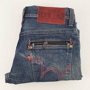 Edwin Blue Strip Jeans Bootcut Sz Tag 30 Mens W32 JE152