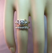 14k Yellow Gold Antique Victorian Diamond Engagement & Wedding Ring Size 6 Cute!