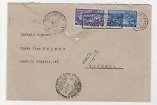 "STORIA POSTALE 1951 TRIESTE ""A"" L.20+55 MONTECASSINO SU BUSTA Z/6601"
