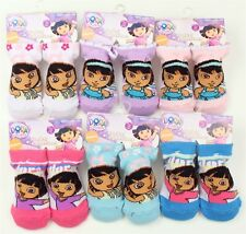4 PAIR Dora The Explorer Baby Booties Socks 6-12 Months NEW