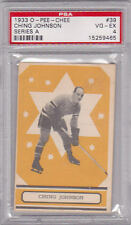 1933-34 Ching Johnson OPC V304A #39  Rookie Card  VG/EX BV $300