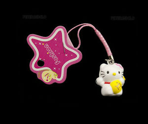 Jewel of Portable Phone Strap Cat Japanese Cat Maneki Neko Lucky Charm MN244