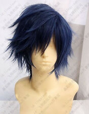 Hot Sell! 2013 New Fashion Dark Blue Short wigs Cosplay Wig