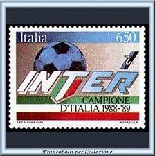 1989 Italia Repubblica Scudetto Calcio INTER Campione**