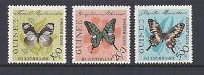 GUINEA 1963 BUTTERFLY AIRMAIL set Scott C47-49 VF MH
