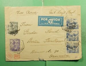 DR WHO 1940 SPANISH MOROCCO TANGIER AIRMAIL TO GERMANY WWII CENSORED  G12484