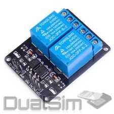 2 Kanal Relay Modul Relais Karte 5V Optokoppler 2-Channel Arduino Raspberry Pi