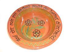 "Large Breininger Redware Pottery Center Piece Bowl, 1996, 12-1/2"" diameter"
