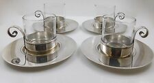 RARE Tiffany & Co Sterling Silver Set Demitasse Cups Saucers Johnson Estate 1940