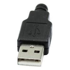 Nuevo 10pzs tipo A macho USB 4 Pines Clavija Enchufe Conector con cubierta F3Y7