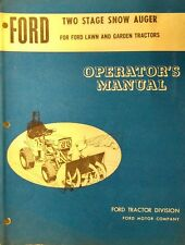 "Ford 80 100 120 Garden Tractor 36"" 2-Stage Snow Thrower Owners Manual 20pg 59746"