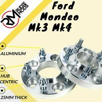 25mm Ford Mondeo Mk3 Mk4 5x108 Hubcentric wheel spacers - UK MADE