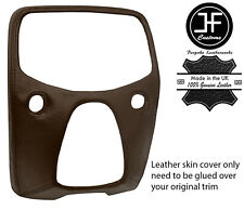 BROWN TOP GRAIN LEATHER CENTRE DASH TRIM COVER FOR TOYOTA AYGO 2014-2019