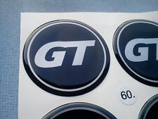 (GT60SS) 4x GT Embleme für Nabenkappen Felgendeckel 60mm Silikon Aufkleber