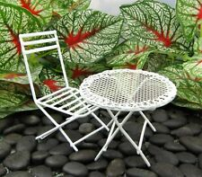 Miniature Fairy Garden White Metal Table & Chair Set - Buy 3 Save $5