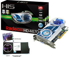 ✔ HIS ATI Radeon HD 4670 (H467QS1GHA) 1GB DDR3 AGP 4x/8x Graphic Card RARE NOS!!