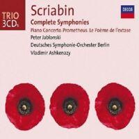 PETER JABLONSKI/V.ASHKENAZY - SCRIABIN-SINFONIEN 1-3/KLAVIERKONZERT/+ 3 CD NEW+