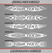 Fits SUZUKI Custom Windshield Tribal Flame Decal Vinyl Graphic Swirl Sticker Car