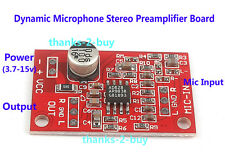 DC 3.7V-12V 6V AD828 Stereo Preamplifier Dynamic Microphone MIC Amplifier Board