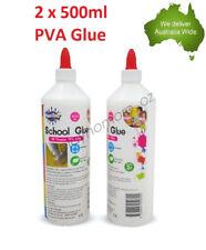 2 x 500ml PVA Glue All Purpose Non Toxic Washable For Slime Make Craft Scrapbook