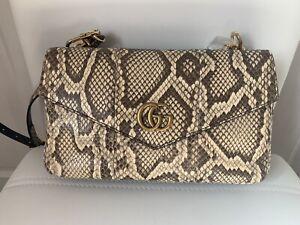 Gucci Marmont Python Skin Crossbody Shoulder Bag Handbag