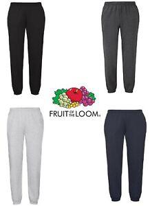 Men's Fruit of the Loom Classic Elasticated Jogging Bottoms Jog Pants Trousers