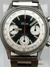 Gallet Jules Racine MultiChron Chronograph Valjoux 7736 Stainless Steel 37.5mm