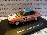 Voiture 1/43 Eligor/ UH Hachettes : RENAULT sport : R 12 gordini coupe 72