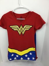 D C Comics Originals Wonder Woman Halloween Costume T Shirt / Cape Youth Sz M