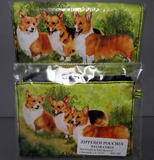 Welsh Corgi Dog Zippered Pouch & Wallet By Ruth Maystead 3 Corgis Dogs Free Ship