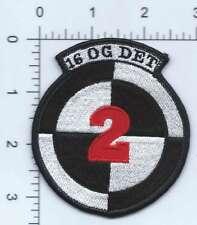 USAF PATCH 16 OPERATIONS GROUP DETACHMENT 2 USAF SPEC OPS AIR COMMANDOS