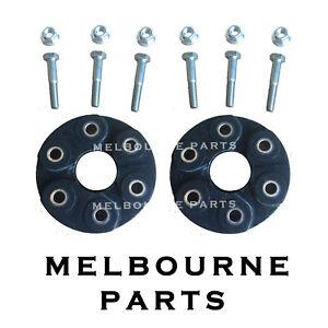 Front & Rear Rubber Driveshaft TailShaft Couplings Commodore VX VY VZ VE V6 AT