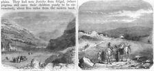ISRAEL. Jerusalem. Mounts Ebal & Gerizim; Nain 1870 old antique print picture