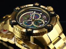 Invicta Men 63mm Grand OCTANE Arsenal Swiss Chrono Black MOP Dial 18KGP SS Watch