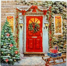 CHRISTMAS WINTER SNOW 2 single LUNCH SIZE paper napkins for decoupage 3-ply ppd