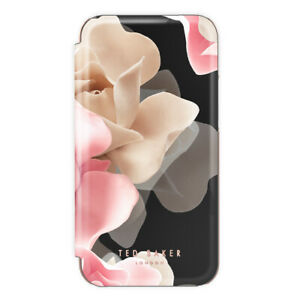 Ted Baker® KNOWANE Mirror Folio Luxury Case for iPhone XR - Porcelain Rose Black